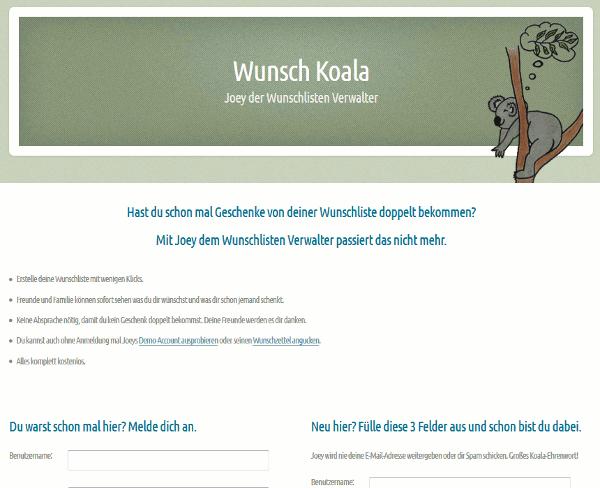 Die aktuelle Version informiert den User in Stichpunkten worum es geht und bietet die Screenshots auf einer separaten Seite an.
